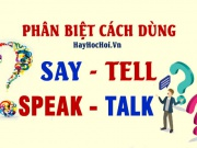 Phân biệt cách dùng động từ Say, Tell, Speak, Talk - The differrence between Say, Tell, Speak and Talk